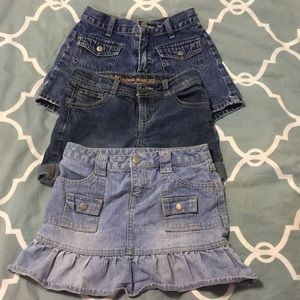 Set of 3 Shorts & Skirt Kids Size 7